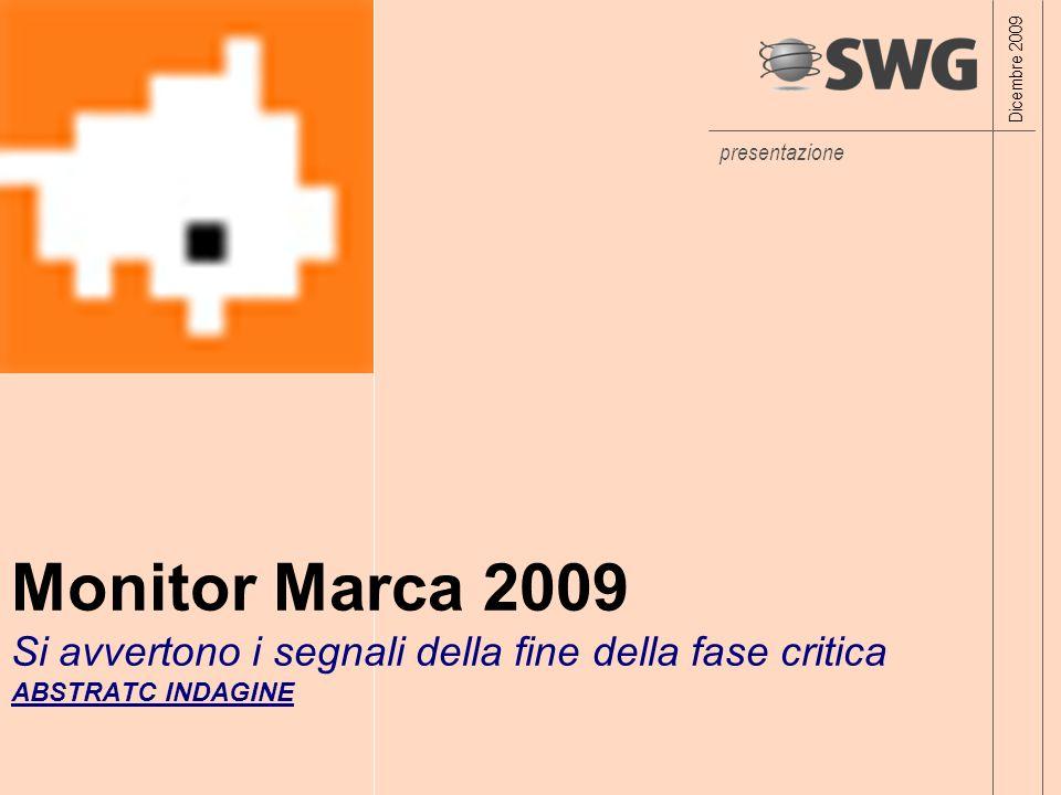 presentazione Monitor Marca 2009 Si avvertono i segnali della fine della fase critica ABSTRATC INDAGINE Dicembre 2009