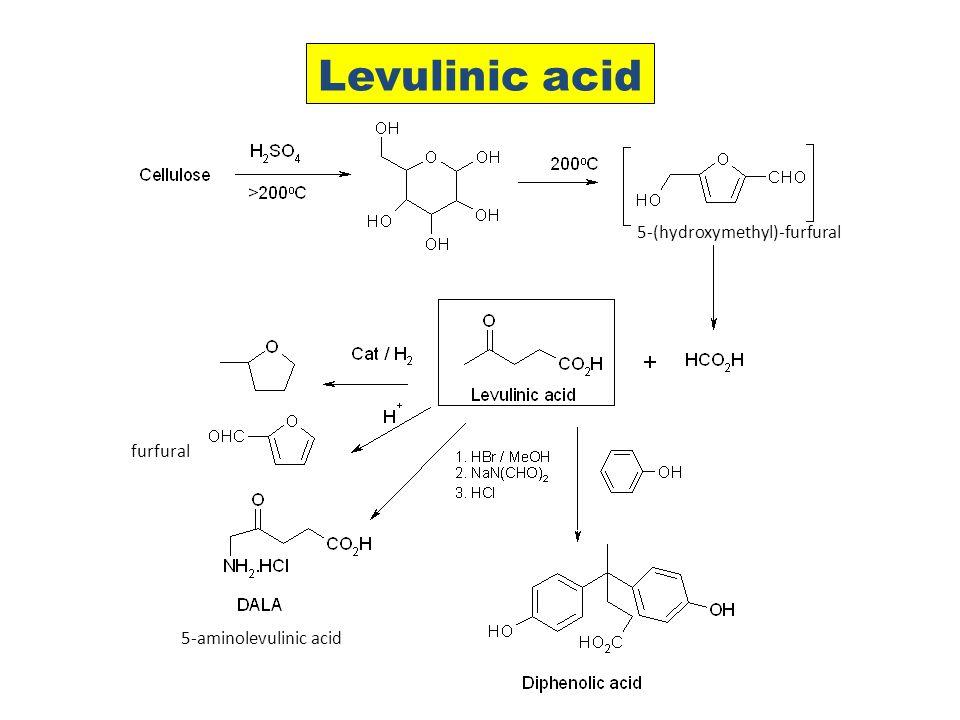 Levulinic acid furfural 5-aminolevulinic acid 5-(hydroxymethyl)-furfural