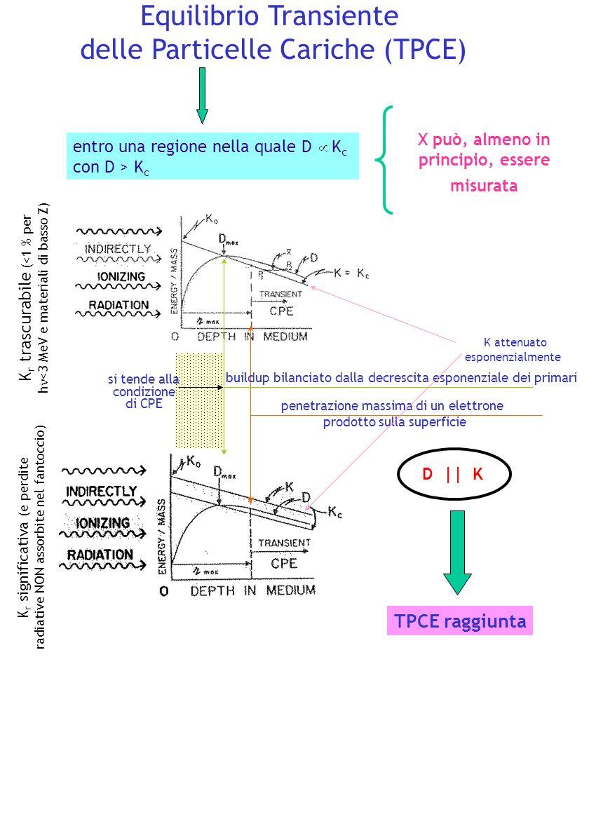 Equilibrio Transiente delle Particelle Cariche (TPCE) X può, almeno in principio, essere misurata entro una regione nella quale D K c con D > K c K r
