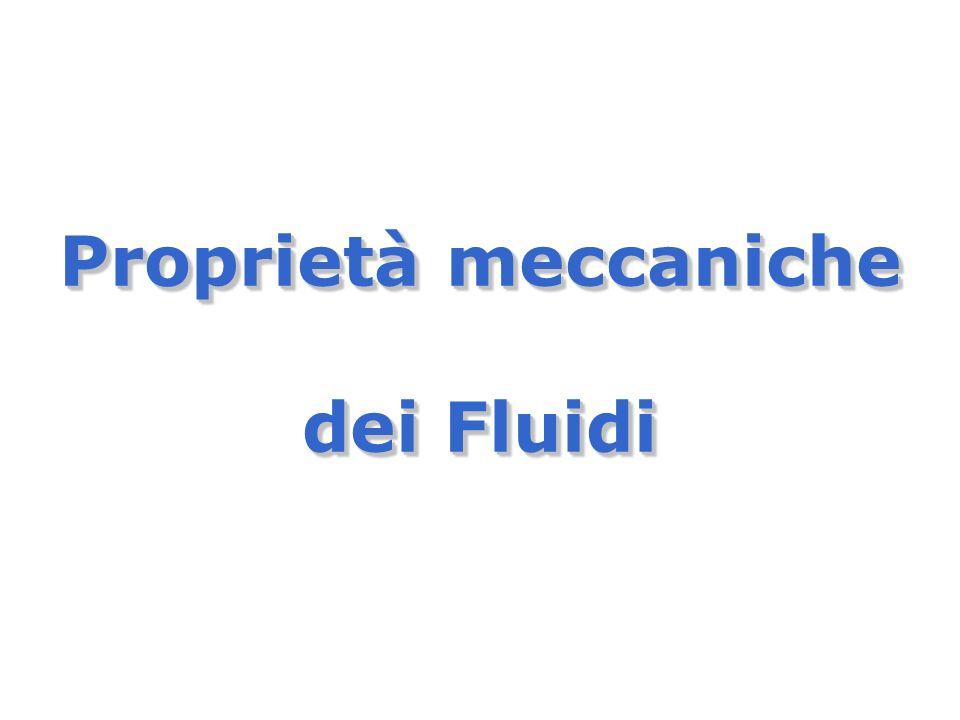 Proprietà meccaniche dei Fluidi Proprietà meccaniche dei Fluidi