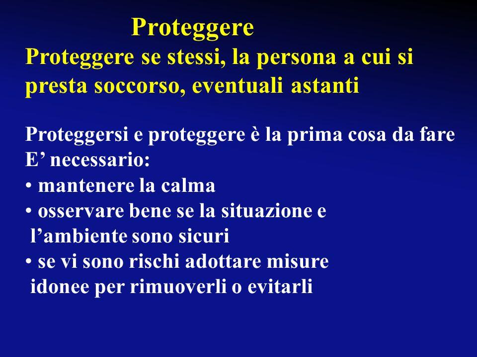 Proteggere - Avvertire - Soccorrere P.A.S.