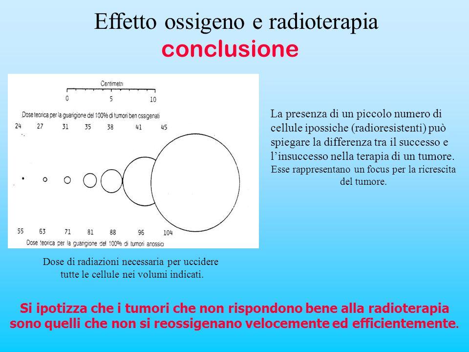 La presenza di un piccolo numero di cellule ipossiche (radioresistenti) può spiegare la differenza tra il successo e linsuccesso nella terapia di un t