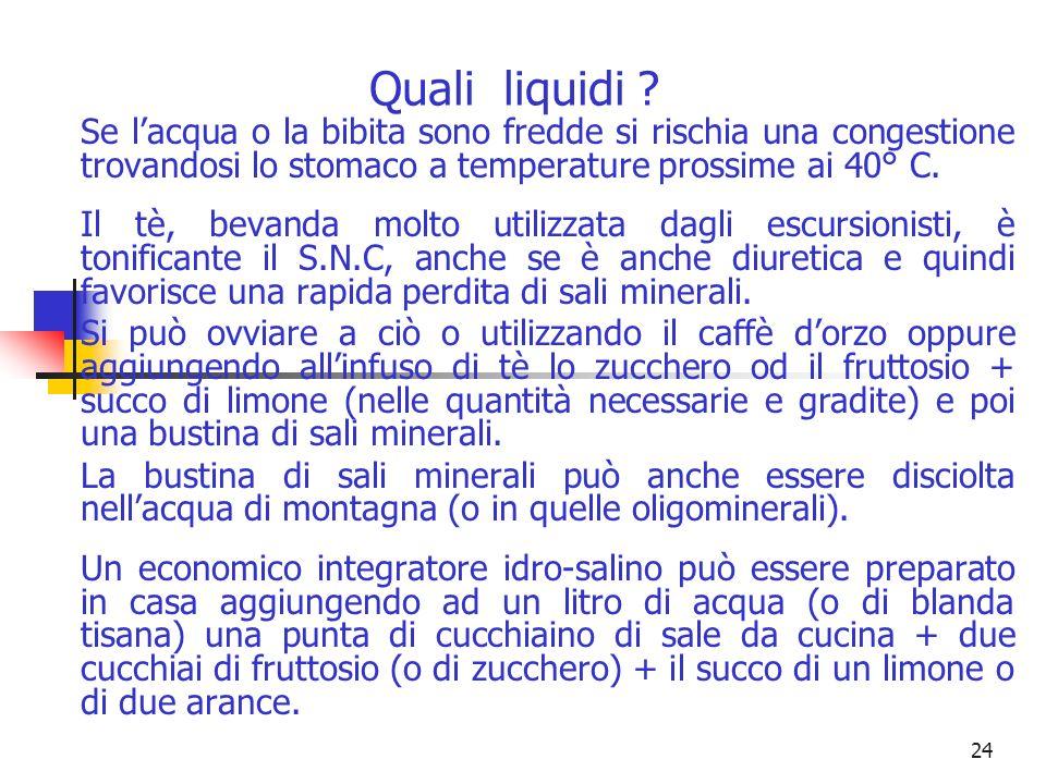 23 Quali liquidi .