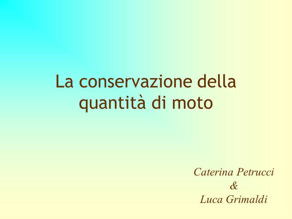 La conservazione della quantità di moto Caterina Petrucci & Luca Grimaldi