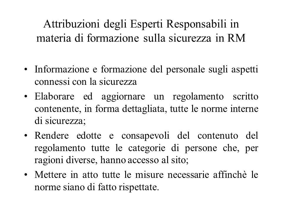 LIMITI TEMPORALI DI PERMANENZA NEL CAMPO MAGNETICO STATICO (nelle normative internazionali)