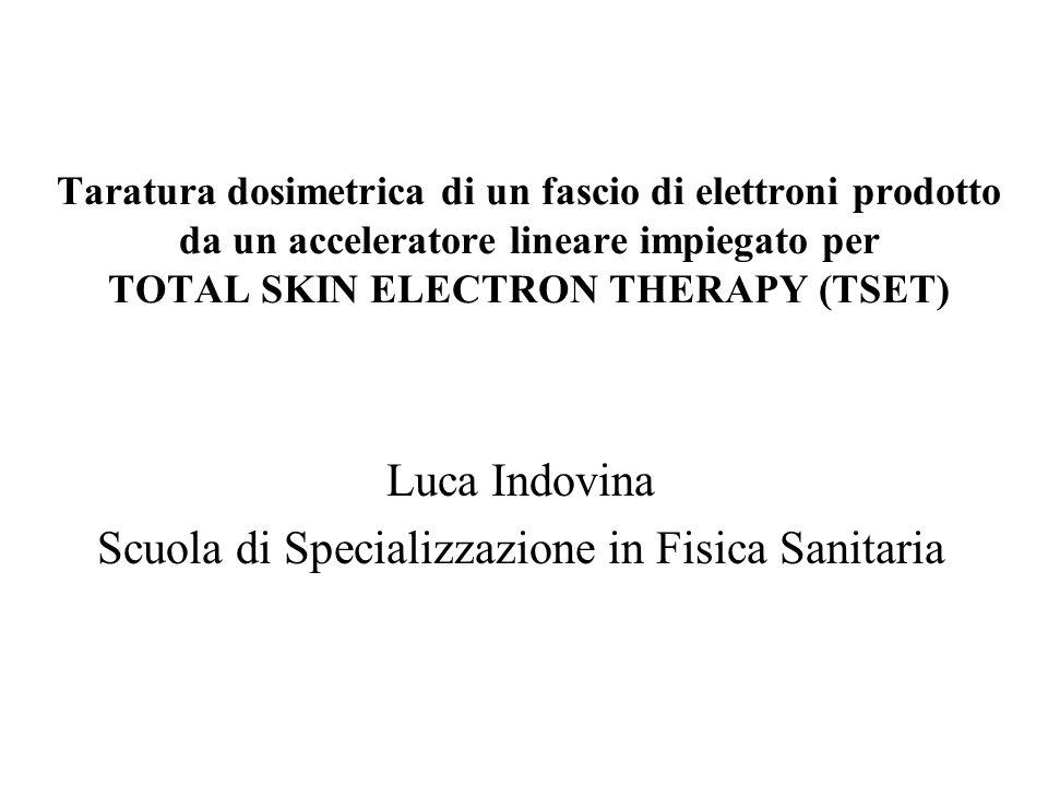 Luca Indovina Scuola di Specializzazione in Fisica Sanitaria Taratura dosimetrica di un fascio di elettroni prodotto da un acceleratore lineare impieg
