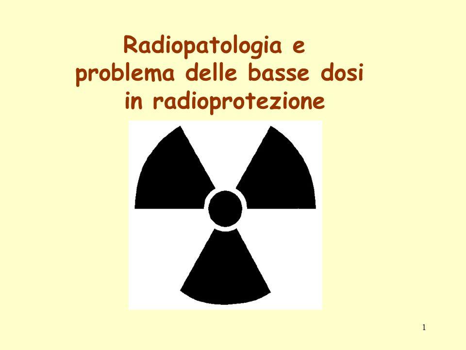 12 A questo scopo è necessario ricorrere a studi sperimentali per ricavare la forma della relazione dose-risposta e la sua dipendenza dallintensità di dose.