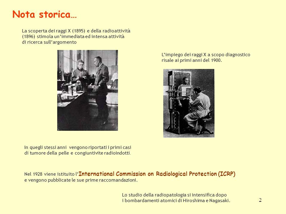 2 La scoperta dei raggi X (1895) e della radioattività (1896) stimola unimmediata ed intensa attività di ricerca sullargomento In quegli stessi anni v
