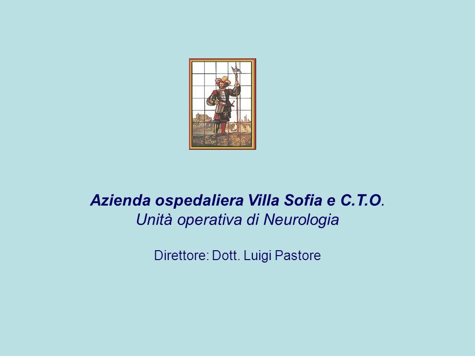 Azienda ospedaliera Villa Sofia e C.T.O.Unità operativa di Neurologia Direttore: Dott.