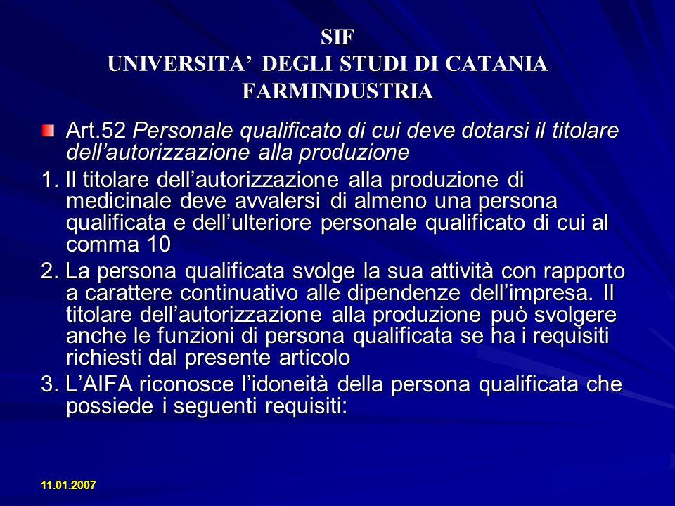 SIF UNIVERSITA DEGLI STUDI DI CATANIA FARMINDUSTRIA Levoluzione del settore farmaceutico nel 2005 - Crescita delle esportazioni di medicinali del 16.4% - Il dato medio di crescita della produzione farmaceutica in Italia negli anni 2002-2005 è del + 1.9% annuo