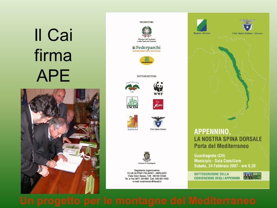 Il Cai firma APE Un progetto per le montagne del Mediterraneo
