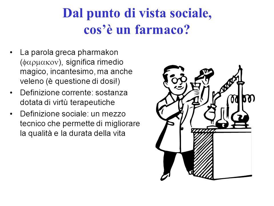 A cosa servono i farmaci.Una ricerca sulla popolazione italiana Cosa ci fa guarire.