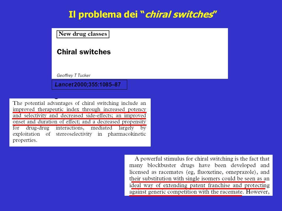 Lancet 2000;355:1085–87 Il problema dei chiral switches