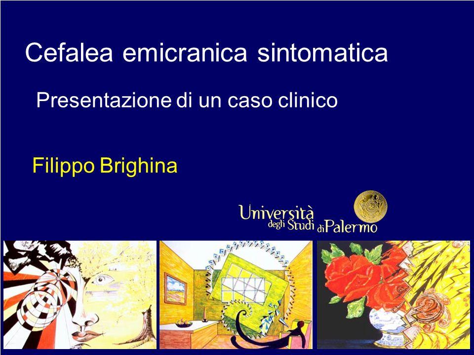 Descrizione Giovane donna di 18 anni Storia di cefalea accessuale da 3 anni, severa, pulsante, diffusa, con nausea, fono- e fotofobia, della durata di 8- 12 ore.