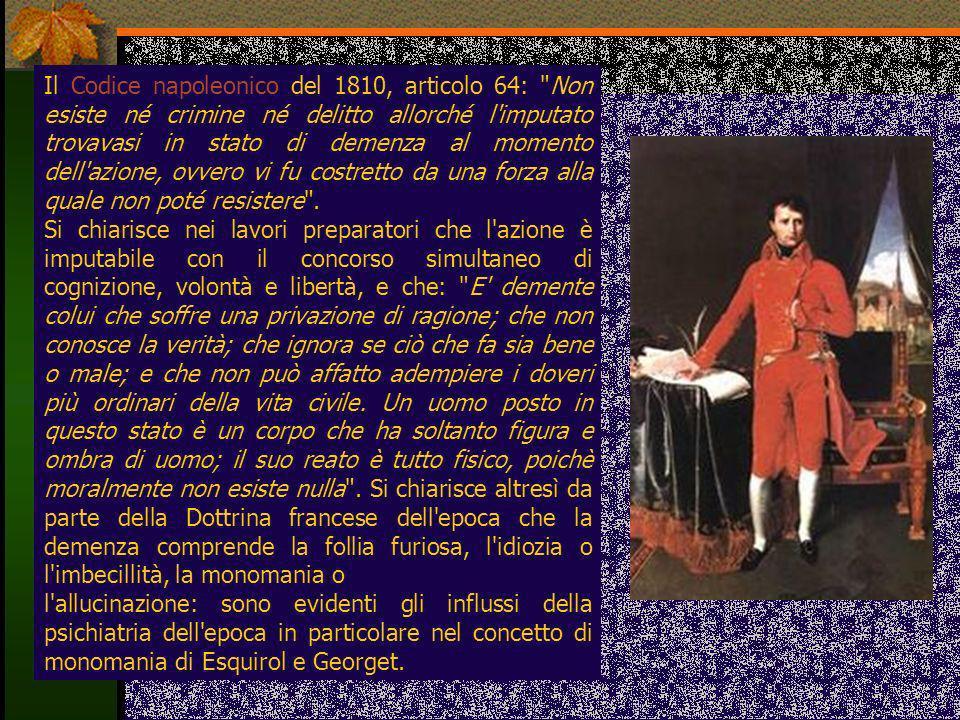 Il Codice napoleonico del 1810, articolo 64: