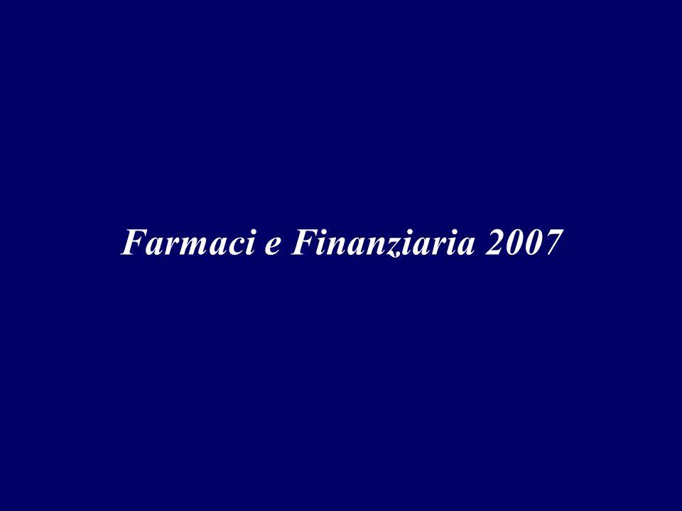 Farmaci e Finanziaria 2007