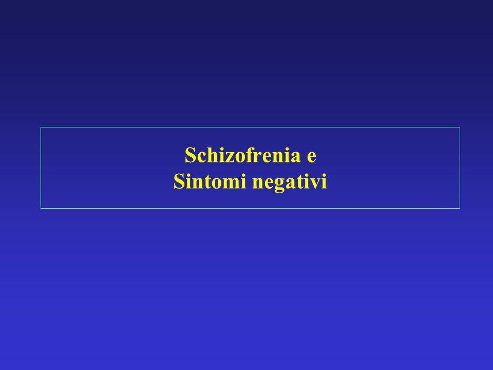 Schizofrenia e Sintomi negativi