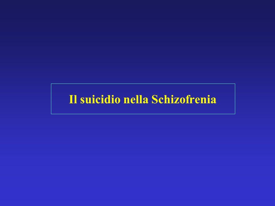 Il suicidio nella Schizofrenia