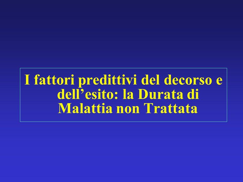 I fattori predittivi del decorso e dellesito: la Durata di Malattia non Trattata