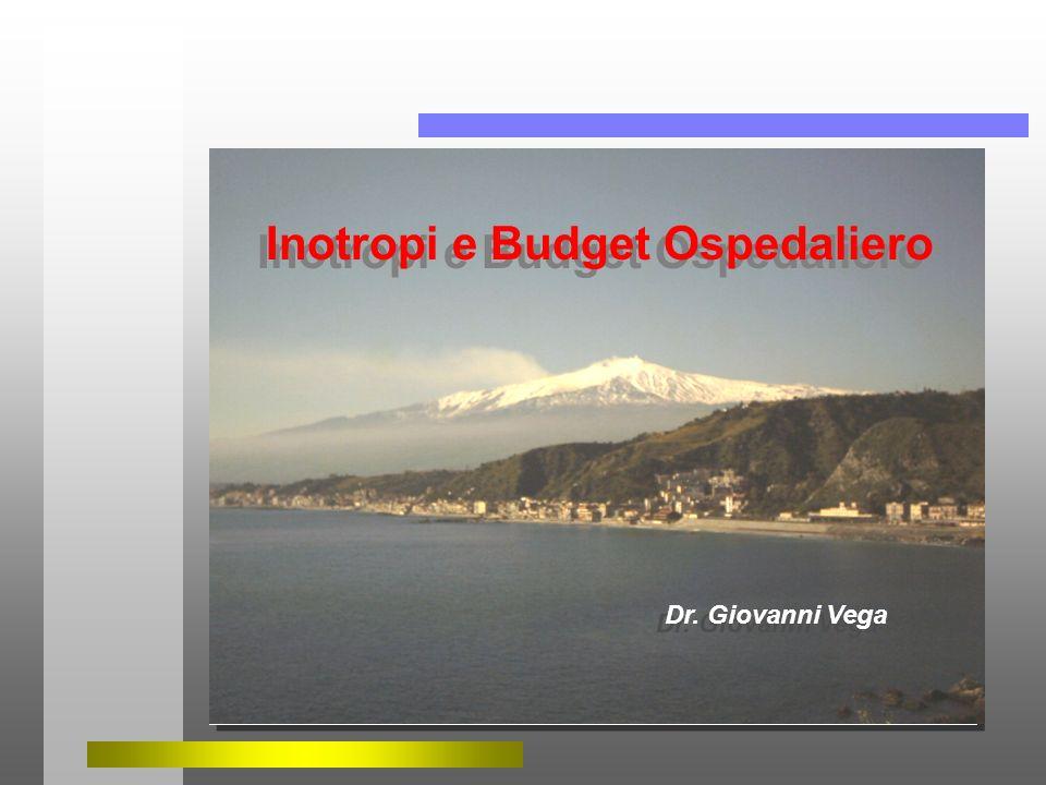 Dr. Giovanni Vega Inotropi e Budget Ospedaliero