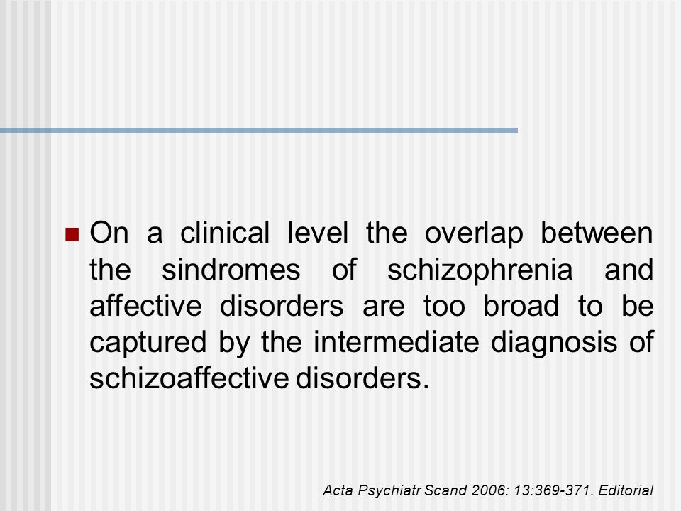 In contrast to its clinical popularity, research investigations in this diagnostic category - although operational definitions became available - remained relatively rare as it becomes from a PubMed search (search terms in titles: schizoaffective disorder =230 citations; schizophrenia =13.297; bipolar disorder =2.355; during a 10-year period 1995-2005).