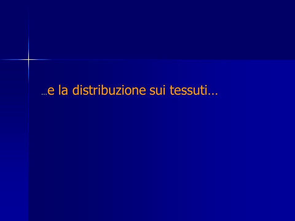 … e la distribuzione sui tessuti…
