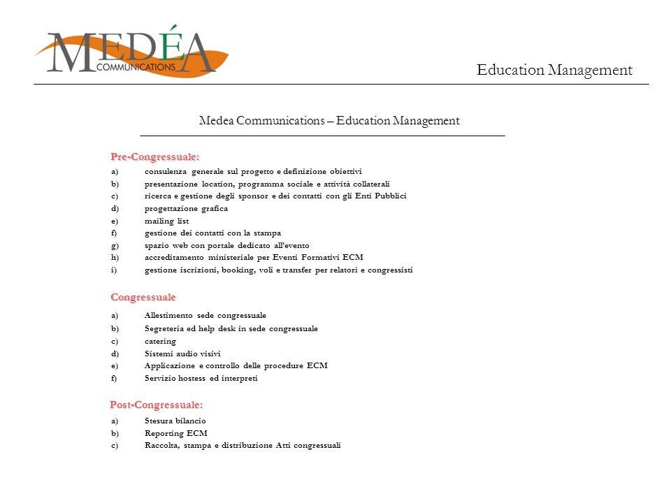 a)consulenza generale sul progetto e definizione obiettivi b)presentazione location, programma sociale e attività collaterali c)ricerca e gestione deg