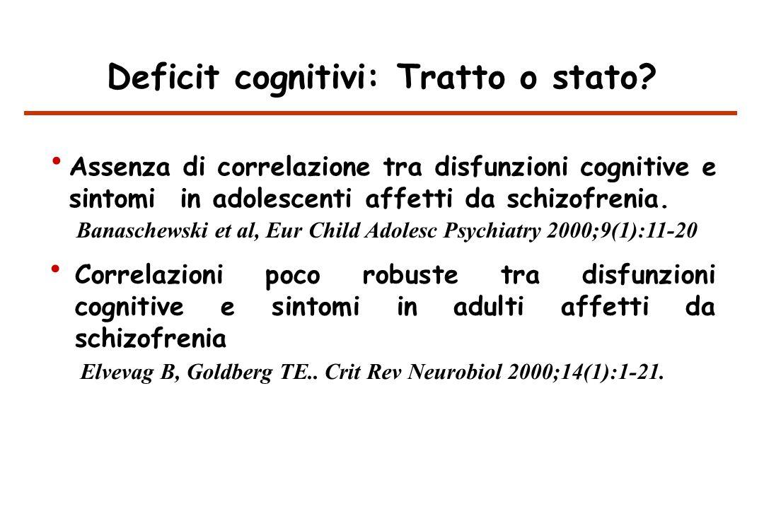 Deficit cognitivi: Tratto o stato.