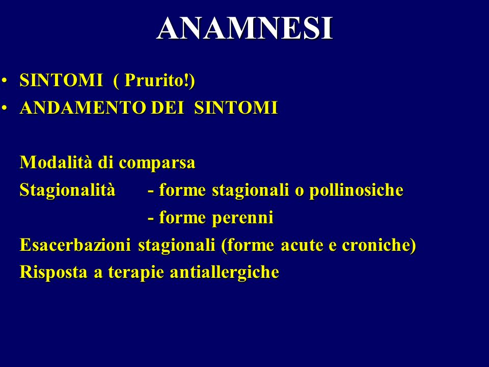 CRITERI DIAGNOSTICI ANAMNESIANAMNESI ESAME CLINICOESAME CLINICO TEST DIAGNOSTICI SUPPLEMENTARITEST DIAGNOSTICI SUPPLEMENTARI