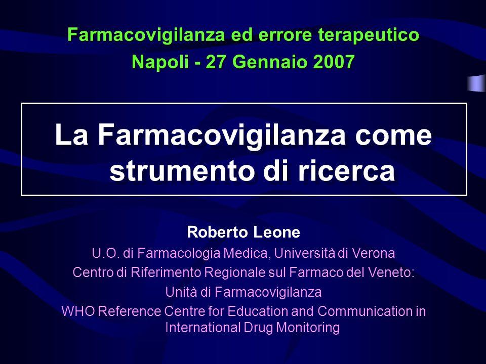 LO STUDIO DI COORTE INCIDENZA DELLA PATOLOGIA 2002 2001 2000 1999 Gruppo A trattato con il farmaco Gruppo B controllo