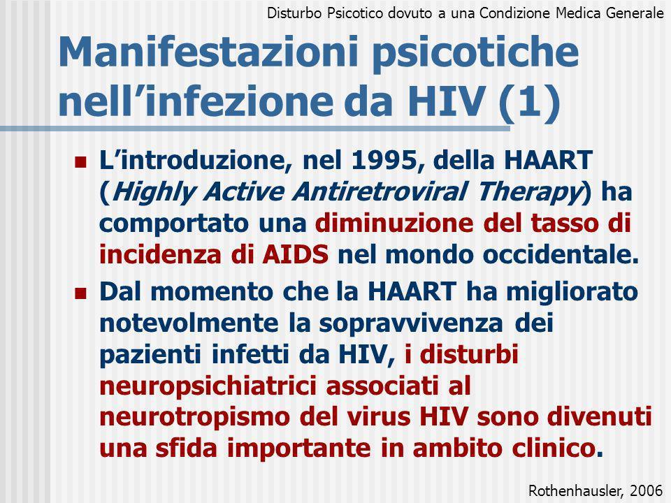 Lintroduzione, nel 1995, della HAART (Highly Active Antiretroviral Therapy) ha comportato una diminuzione del tasso di incidenza di AIDS nel mondo occ