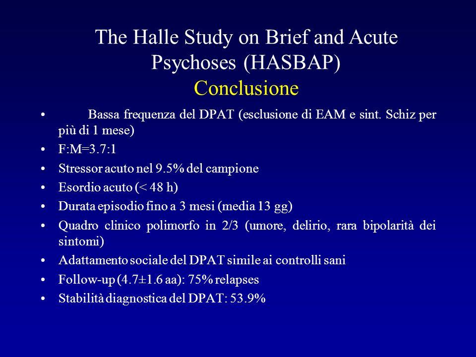 Bassa frequenza del DPAT (esclusione di EAM e sint.