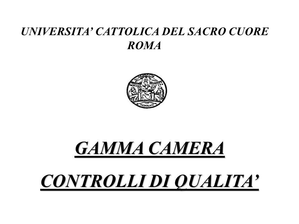 UNIVERSITA CATTOLICA DEL SACRO CUORE ROMA GAMMA CAMERA CONTROLLI DI QUALITA