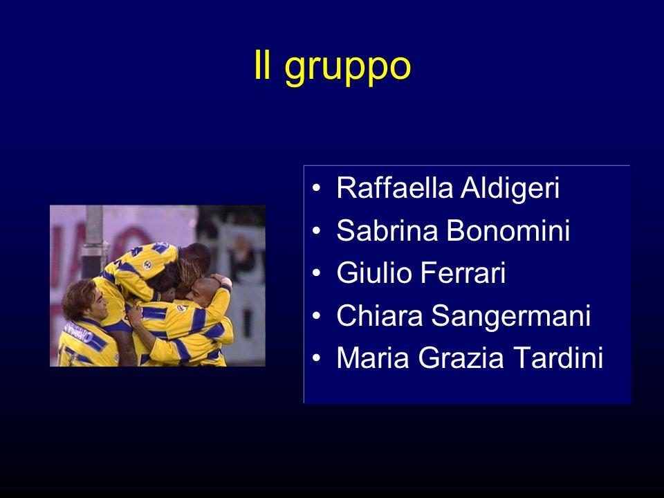 Il gruppo Raffaella Aldigeri Sabrina Bonomini Giulio Ferrari Chiara Sangermani Maria Grazia Tardini