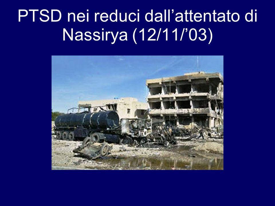 PTSD nei reduci dallattentato di Nassirya (12/11/03)