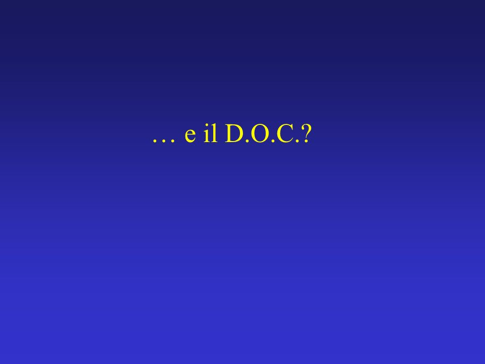 … e il D.O.C.?