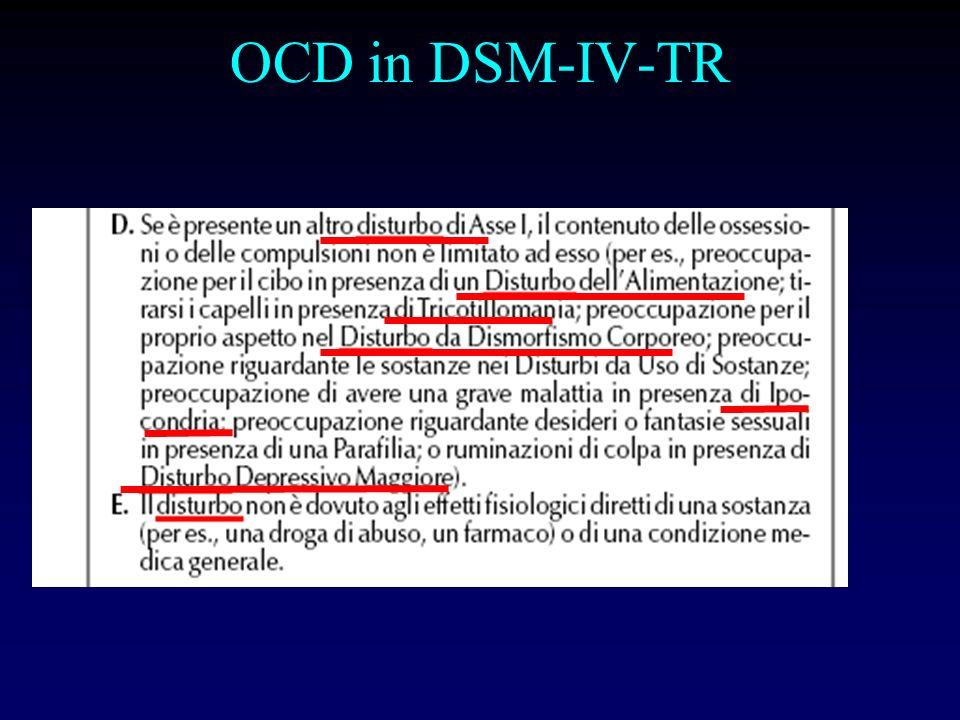 OCD in DSM-IV-TR
