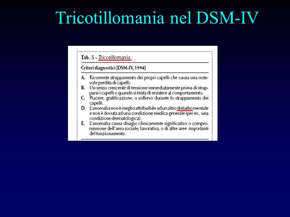 Tricotillomania nel DSM-IV