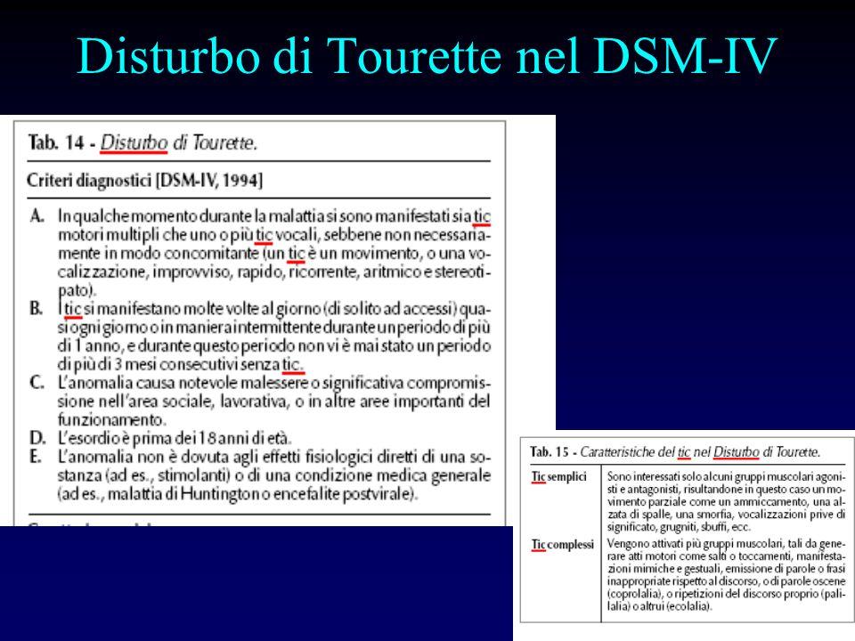 Disturbo di Tourette nel DSM-IV