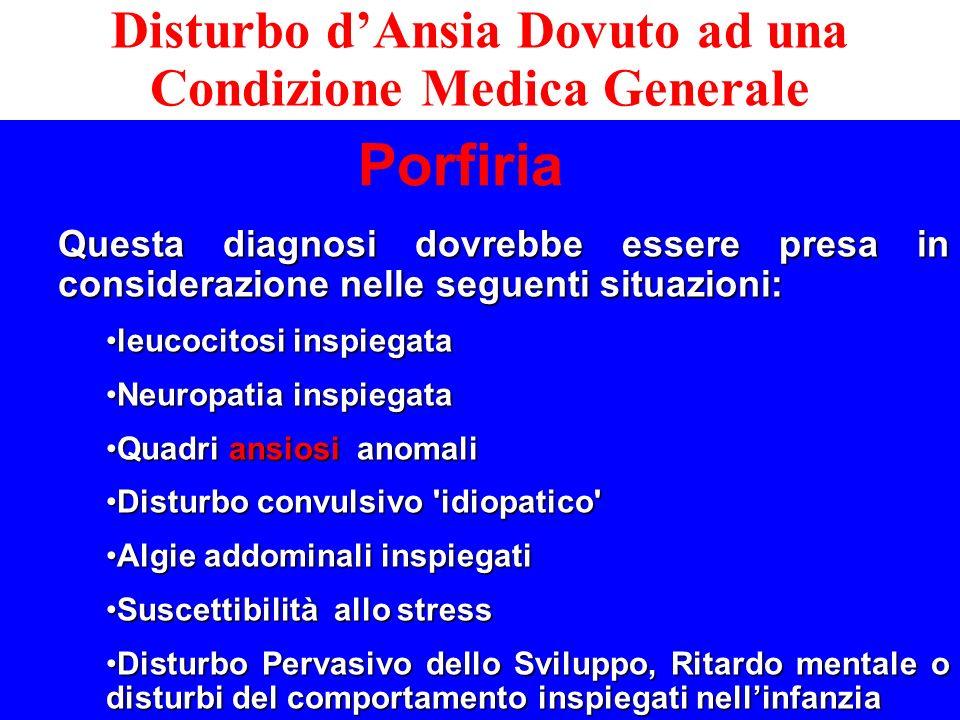 Questa diagnosi dovrebbe essere presa in considerazione nelle seguenti situazioni: leucocitosi inspiegataleucocitosi inspiegata Neuropatia inspiegataN