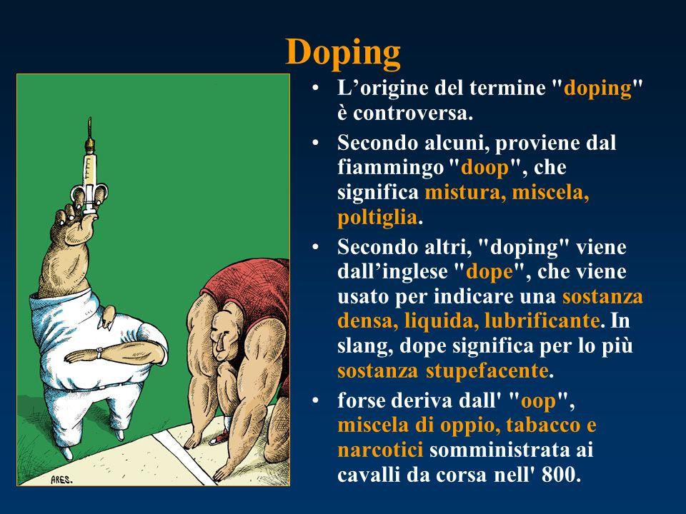 Doping Lorigine del termine