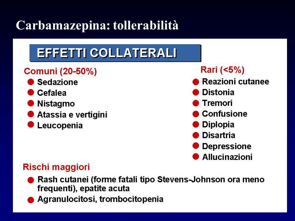 Carbamazepina: tollerabilità
