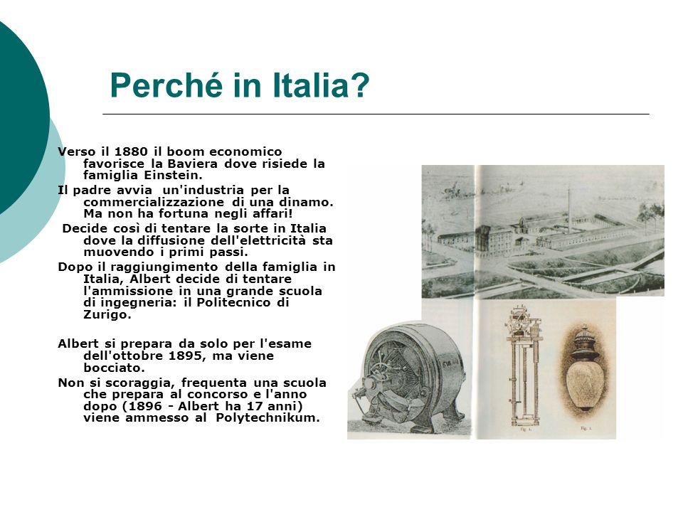 Perché in Italia.