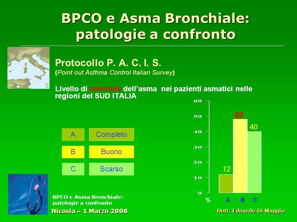 BPCO e Asma Bronchiale: patologie a confronto Protocollo P.