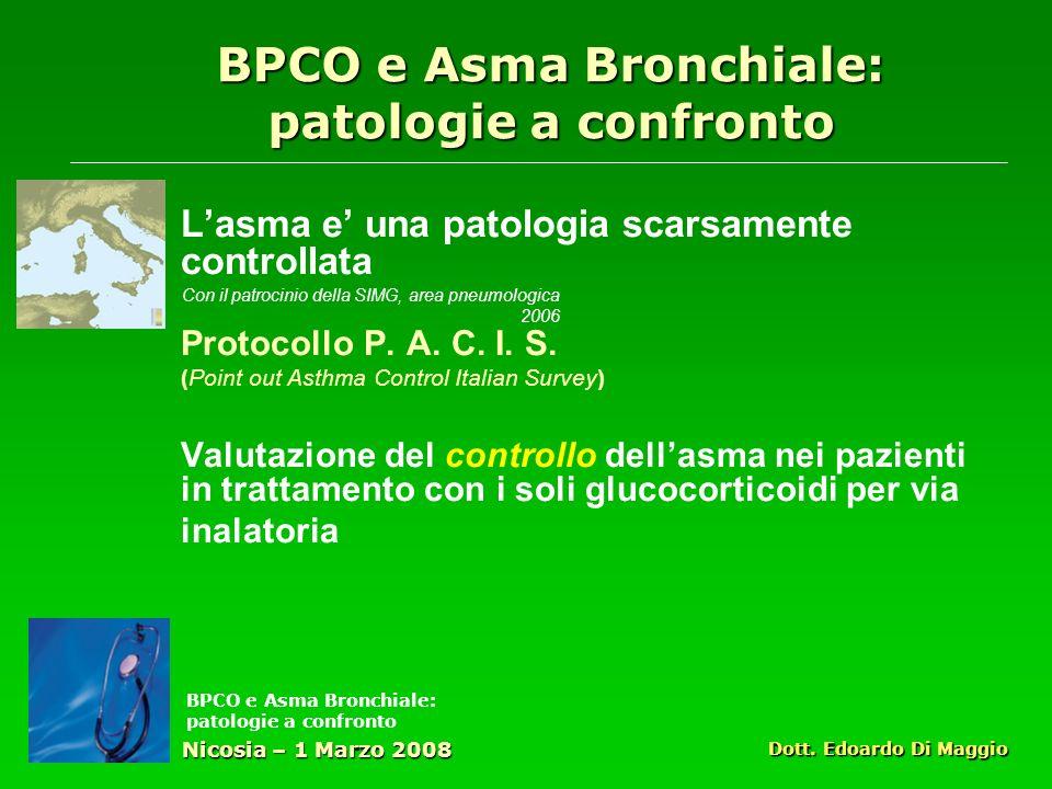Lasma e una patologia scarsamente controllata Protocollo P.