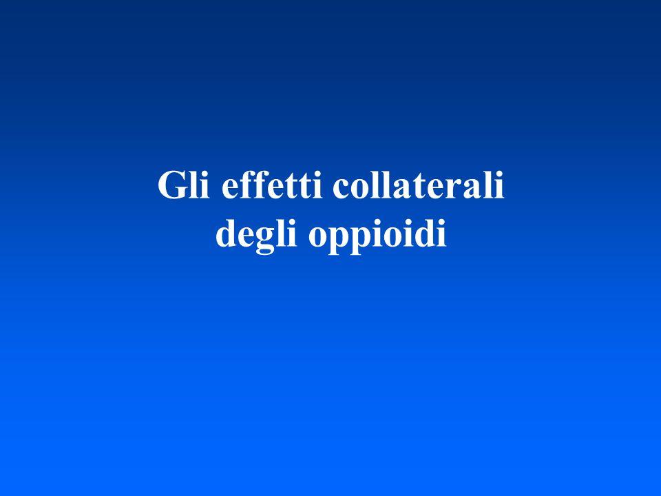 Gli effetti collaterali degli oppioidi