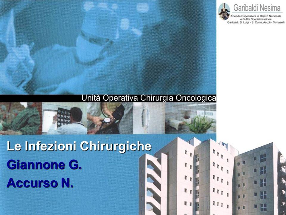 Le Infezioni Chirurgiche Le Infezioni Chirurgiche Giannone G. Giannone G. Accurso N. Accurso N.