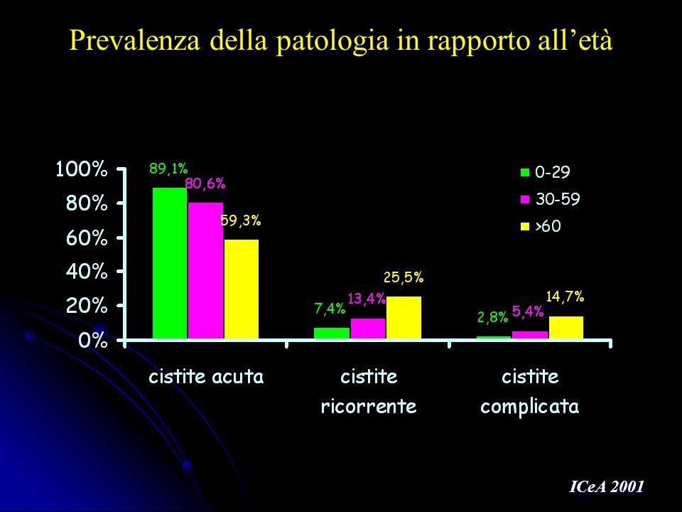 Batteri isolati da urina in portatori di catetere (452 ceppi*) in Italia * 431 campioni (di cui 20 con 2 germi e 1 con 3 germi) Fadda G, Nicoletti G, Schito GC - Progetto Infezioni Gravi, ISS 2004