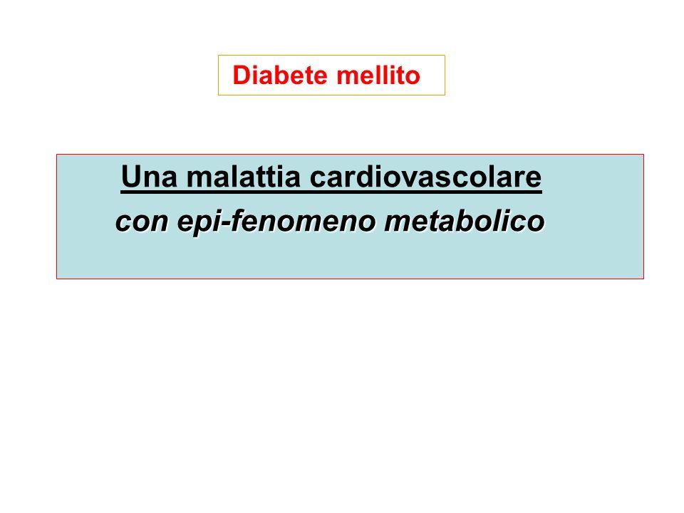 Una malattia cardiovascolare con epi-fenomeno metabolico Diabete mellito