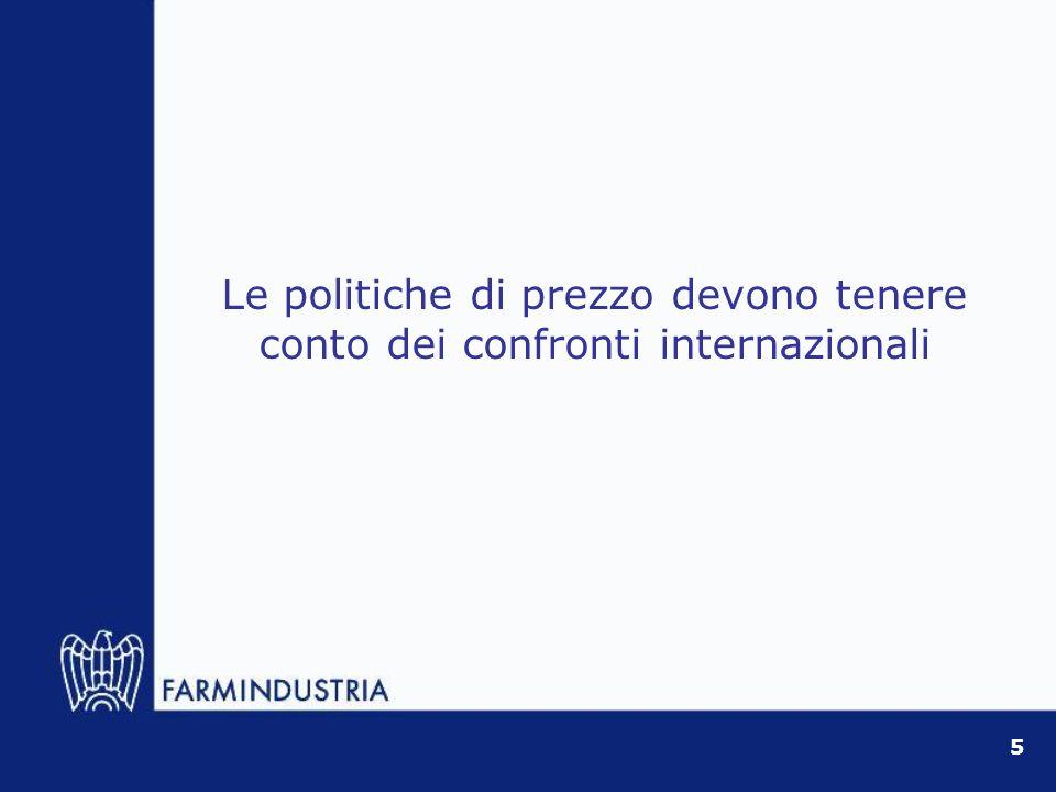 Le politiche di prezzo devono tenere conto dei confronti internazionali 5